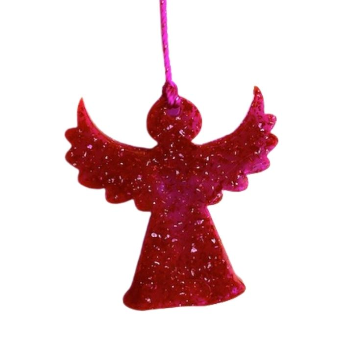 Angel Sparkle On Silk Ribbon -Pink